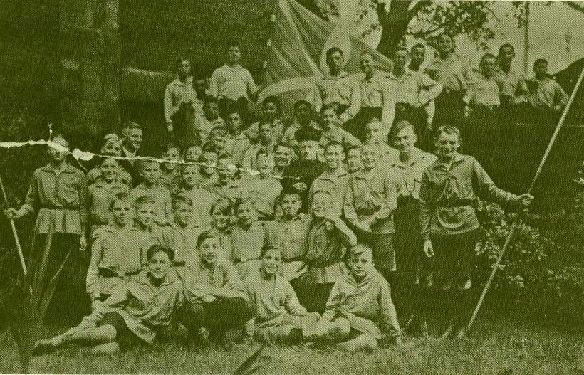Das letzte Gruppenfoto vor dem Verbot