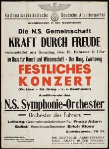 Konzerte, Reisen, Theater; KdF-Konzert im besetzten Amsterdam 1940
